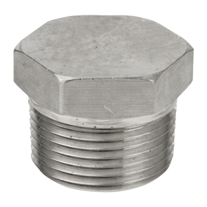 3 in. Threaded NPT Hex Head Plug 304/304L 3000LB Stainless Steel Pipe Fitting
