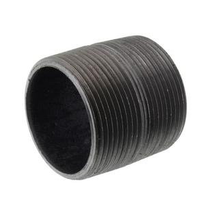 1 in. x Close Black Pipe Nipple Schedule 80 Welded Carbon Steel