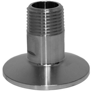 1.5 in. Tri-Clamp x 1/2 in. Male NPT, 304 Stainless Steel Tri-Clamp Fittings x MNPT