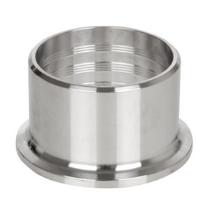 1-1/2 in. 14RMP Plain Recessless Ferrule (3A) 304 Stainless Steel Sanitary Fitting