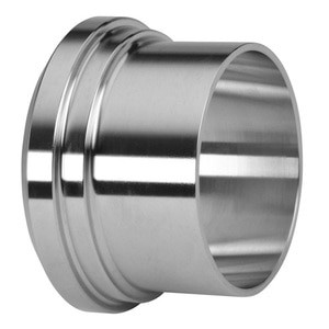 1 in. Long Plain Bevel Seat Ferrule - 14A - 304 Stainless Steel Sanitary Fitting (3-A) View 1