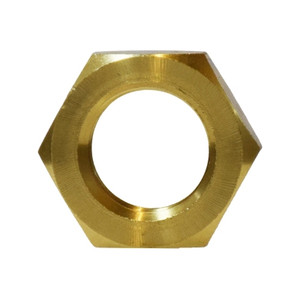 1/4 in. Lock Nut, NPSL Straight Pipe Threads, Jam Nut, Barstock Brass, Pipe Fitting