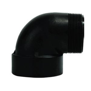 2 in. Street Elbow, Polypropylene Plastic Pipe Fitting, NSF & FDA Approved