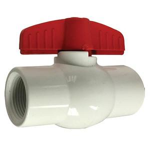 1/2 in. IPS PVC White Ball Valves, Full Port, 150 PSI