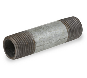 1/8 in. x 8 in. Galvanized Pipe Nipple Schedule 40 Welded Carbon Steel