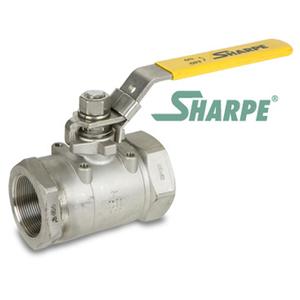 1/4 in. 316 Stainless Steel 3000 WOG Full Port Seal Welded Threaded Ball Valve Sharpe Valves Series 50C767