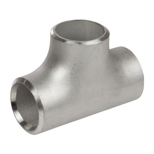 1/2 in. Straight Tee - SCH 80 - 304/304L Stainless Steel Butt Weld Pipe Fitting