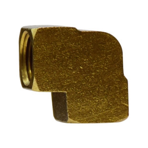 1/8 In. FIP x FIP, 90 Degree Female Elbow, NPTF Threads, SAE# 130238, Operating Pressure: Up to 1200 PSI, Brass Pipe Fitting