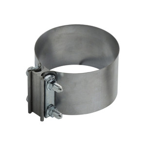 5 in. Stainless Steel Butt Exhaust Hose Clamp, Light Pattern, .5mm Band Thickness