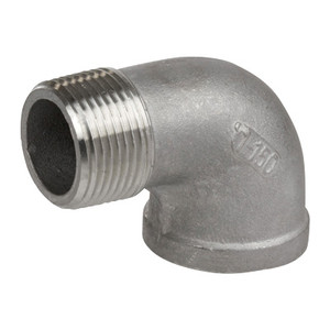 1-1/2 in. 90 Degree Street Elbow - 150# NPT Threaded 316 Stainless Steel Pipe Fitting