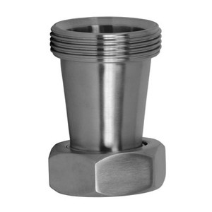 2 in. x 1-1/2 in. 31TP Taper Reducer (3A) Bevel Seat 304 Stainless Steel Sanitary Fitting