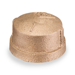 1/4 in. Threaded NPT Cap, 125 PSI, Lead Free Brass Pipe Fitting