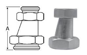 2-1/2 in. x 2 in. 32-14F Eccentric Taper Reducer (3A) 304 Stainless Steel Sanitary Fitting