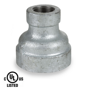 3/8 in. x 1/4 in. Galvanized Pipe Fitting 300# Malleable Iron Threaded Reducing Coupling, UL Listed