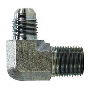 7/16-20 JIC x 1/8 in. Male Pipe JIC Male Elbow Steel Hyrdulic Adapter
