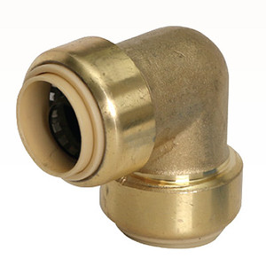 1/2 in. 90 Degree Elbow QuickBite (TM) Push-to-Connect/Press On Fitting, Lead Free Brass (Disconnect Tool Included)