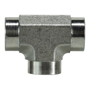 1/8 in. Female Pipe Tee Steel Pipe Fitting & Hydraulic Adapter