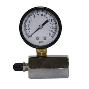 0-15 Face Size, Gas Test Gauge W/1/10 INC. Pneumatic Accessories
