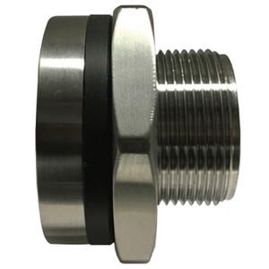 3/4 in. Bulkhead Coupling, 1450-2175 PSI, NPT Threaded, 316 Stainless Steel Bulkhead Fitting