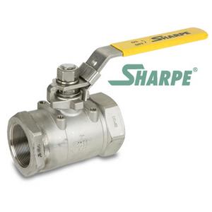 1/4 in. 316 Stainless Steel 6000 WOG Full Port Seal Welded Threaded Ball Valve Sharpe Valves Series 50F767