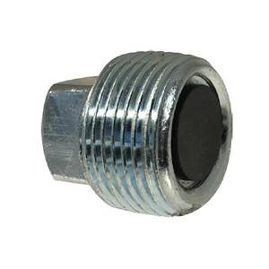 3/8-18 Magnetic Drain Plug, Steel, NPT Threaded