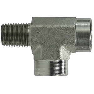 1/8 in. x 1/8 in. Street Pipe Tee Steel Pipe Fittings & Hydraulic Adapter