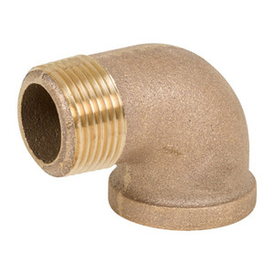 1/4 in. Threaded NPT 90 Degree Street Elbow, 125 PSI, Lead Free Brass Pipe Fitting