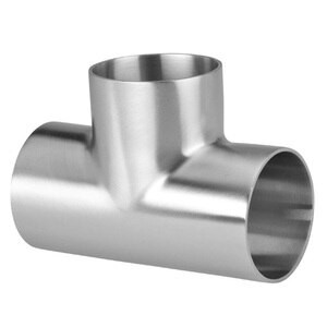 1 in. Polished Short Weld Tee (7WWW) 304 Stainless Steel Sanitary Butt Weld Fitting (3-A)