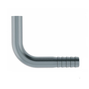 1/4 in. Hose Barb x Weld End (Smooth Finish) 90 Degree Elbow 304 Stainless Steel Beverage Fitting