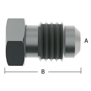 1/4 in. Male Flare Plugs 303 Stainless Steel Beverage Fitting