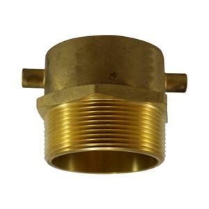 2-1/2 in. Female NST x 2 in. Male NPT, Male Swivel Adapter with Lugs, Brass Fire Hose Fitting