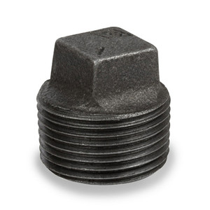 1/2 in. Pipe Fitting Ductile Iron Square Head Plug NPT Threaded Class 300 UL/FM