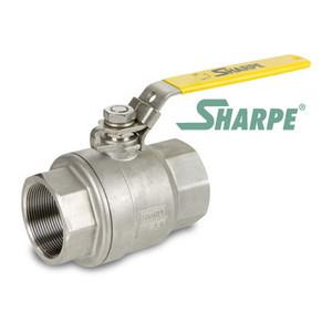 1/4 in. 316 Stainless Steel Ball Valve 1000 WOG Full Port Threaded 2-Piece Sharpe Series 50M76