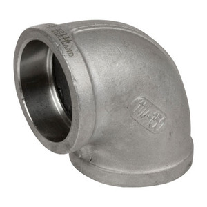 1/2 in. Pipe Fitting Stainless Steel Socket Weld Pipe 90 Degree Elbow, Cast 150# 304SS