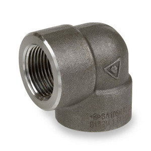 1/8 in. 2000# Pipe Fitting Forged Carbon Steel 90 Degree Elbow NPT Threaded