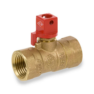 1/2 in. Forged Brass FIP x FIP Straight 2-Piece Gas Valve Series 250