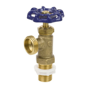1/2 in. Cast Brass 125 CWP Extended Shank MIP Inlet Boiler Drain - Series 101X