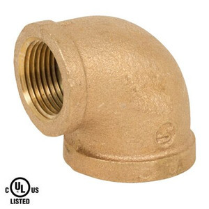 1/8 in. 90 Degree Elbow - NPT Threaded - 125# Bronze Pipe Fitting - UL Listed