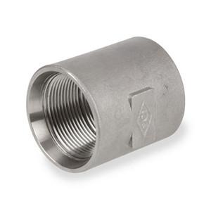 1 in. Stainless Steel Pipe Fitting Recessed Drop Coupling 150# 304SS NPT Threaded
