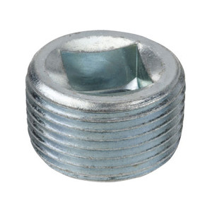 1/8 in. Merchant Steel NPSC Threaded Galvanized Countersunk Square Plug 150# Pipe Fitting