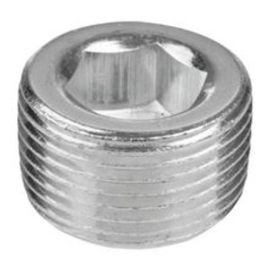 1/16 in. 150# 302 Stainless Steel Bar Stock NPT Short Counter Sunk Hex Plug Pipe Fitting