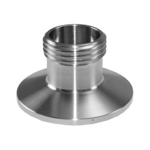 1.5 in. x 3/4 in. Tri-Clamp x Male Garden Hose Thread (TcxMGHT) Adapter, 304 Stainless Steel Sanitary Fitting