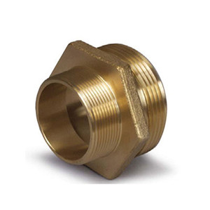 1-1/2 in. MNST x 1-1/2 in. MNPT Thread Adapter, B16 Brass Fire Hydrant & Hose Fitting