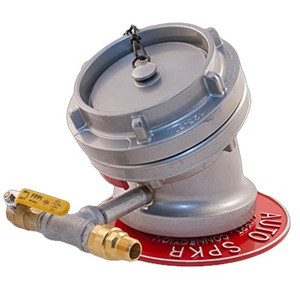 """5"""" Storz x 4"""" FNPT, 30° w/Cap, WP, Ball Drip & Valve Fire Protection & Standpipe Equipment"""