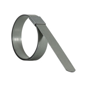 1-1/2 in. Galvanized F-Series Preformed Heavy Duty Hose Clamps - 5/8 in Nominal Width