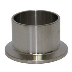1/2 in. Tri-Clamp Ferrule, Medium (0.846 in. OAL) 304 Stainless Steel Sanitary TriClover Fittings & Brewers Hardware