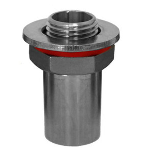 1/2 in. Weldless Bulkhead Fitting x 1/2 in. Coupling 304 Stainless Steel Brewers Hardware