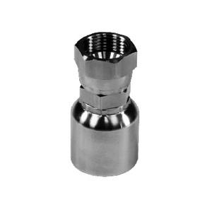 "1/4"" Hose x -4 FJIC Swivel - 43 Series 316 Stainless Steel Crimp Hose Fitting"