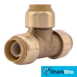SharkBite Tee Push-Fit Lead Free Brass Plumbing Fitting - 1/2 in. x 1/2 in. x 1/2 in.