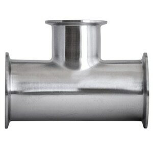 2 in. x 1 in. Clamp Reducing Tee - 7RMP - 304 Stainless Steel Sanitary Fitting (3-A)